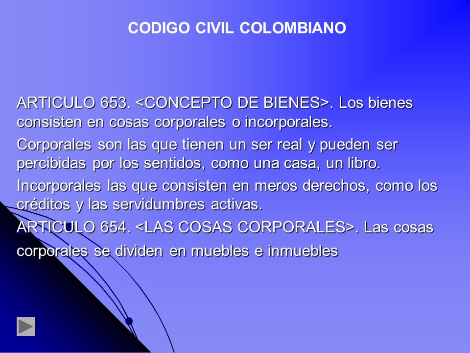 CODIGO CIVIL COLOMBIANO