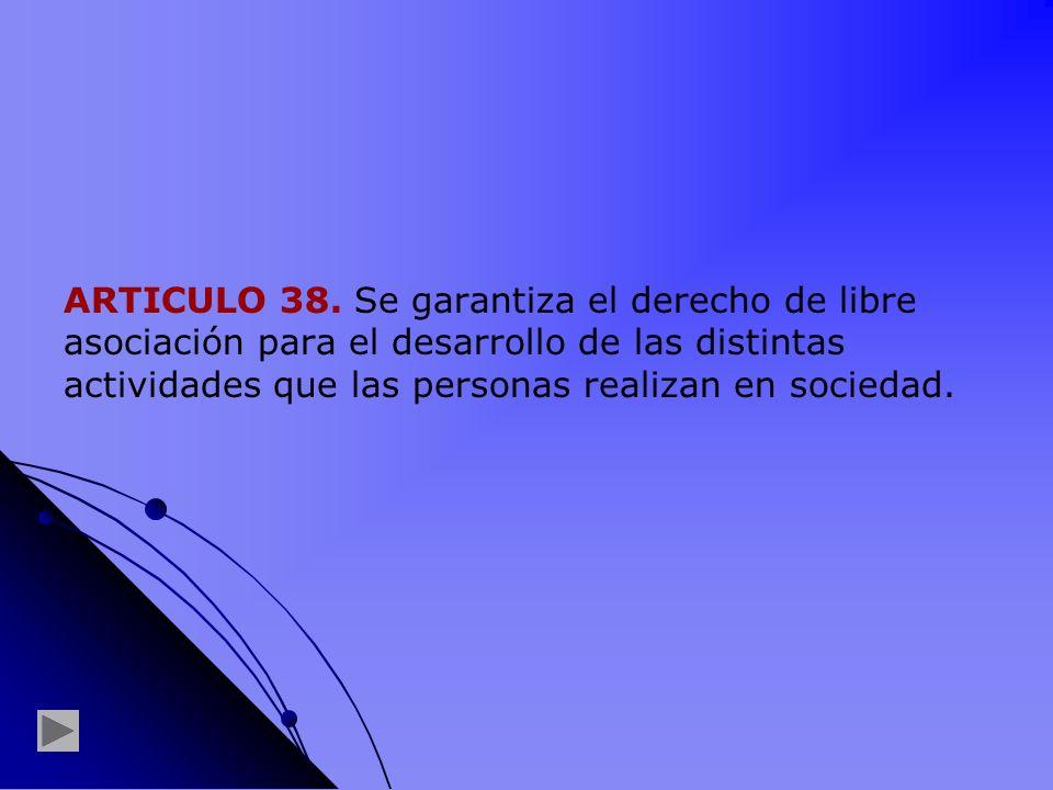 ARTICULO 38.