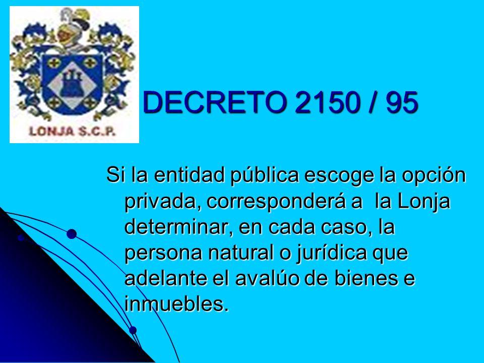DECRETO 2150 / 95