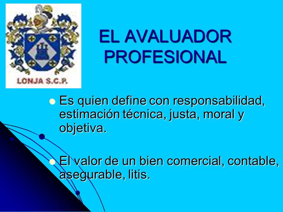 EL AVALUADOR PROFESIONAL