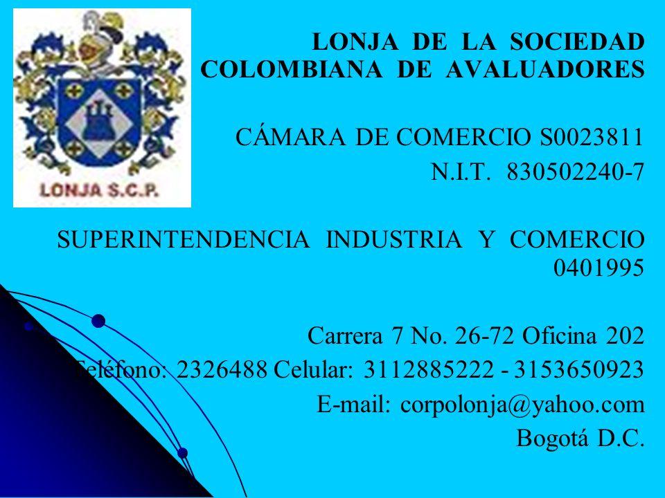 LONJA DE LA SOCIEDAD COLOMBIANA DE AVALUADORES