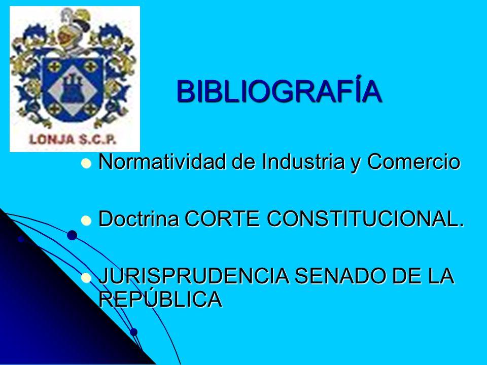 BIBLIOGRAFÍA Normatividad de Industria y Comercio