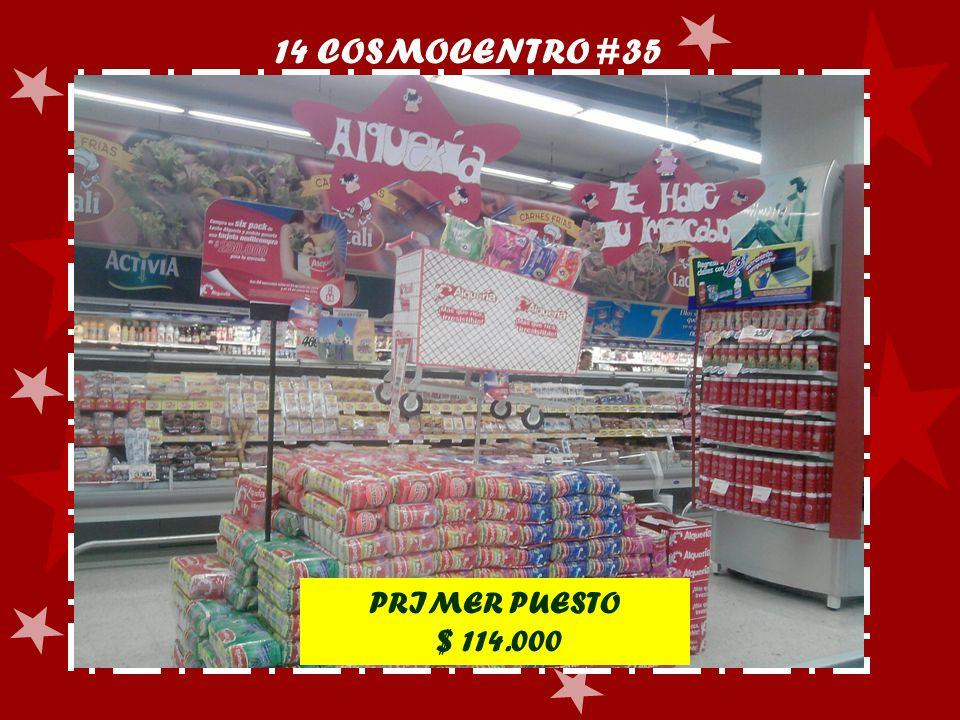 14 COSMOCENTRO #35 PRIMER PUESTO $ 114.000