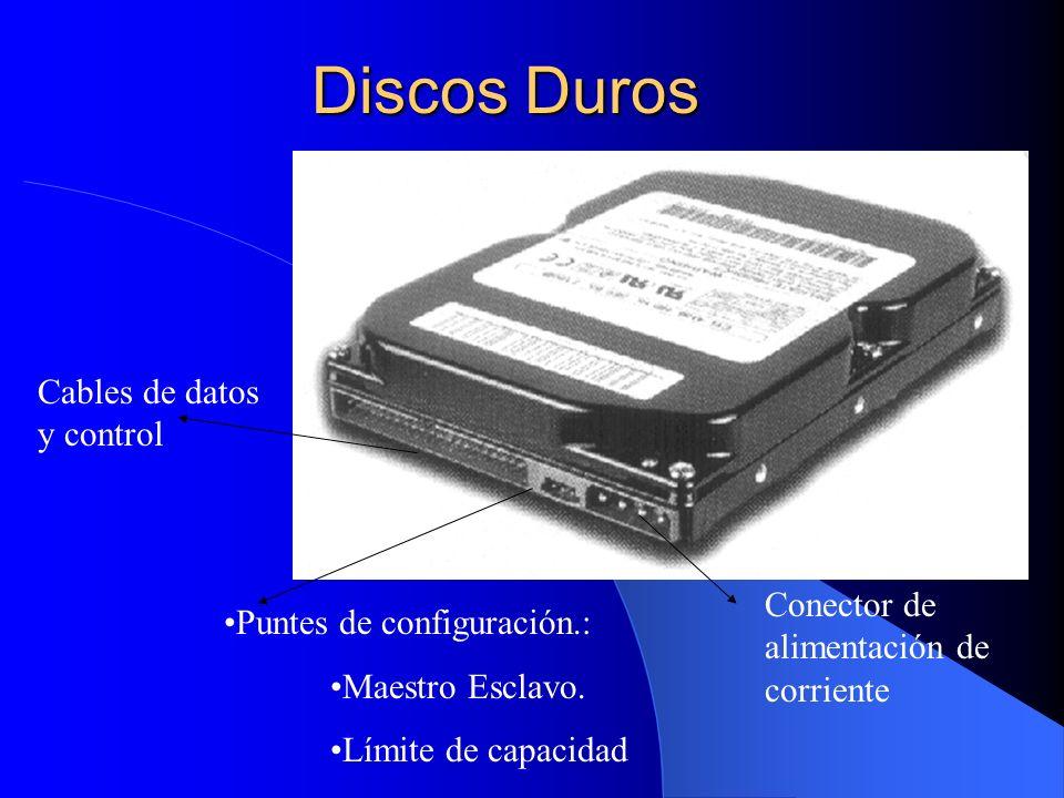 Discos Duros Cables de datos y control