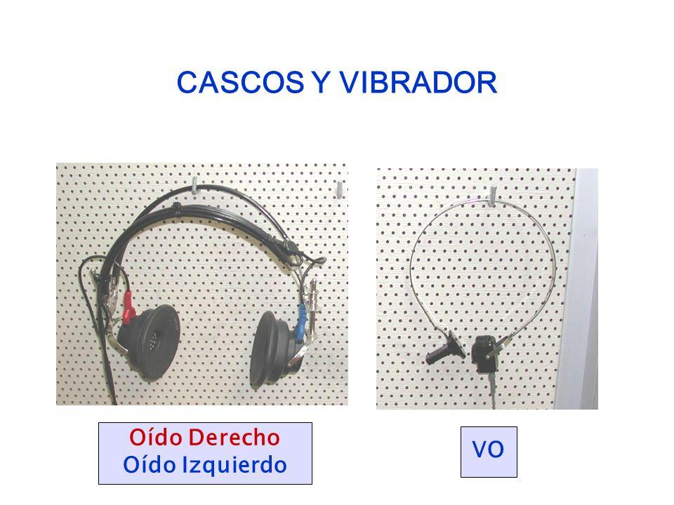 CASCOS Y VIBRADOR Oído Derecho Oído Izquierdo VO