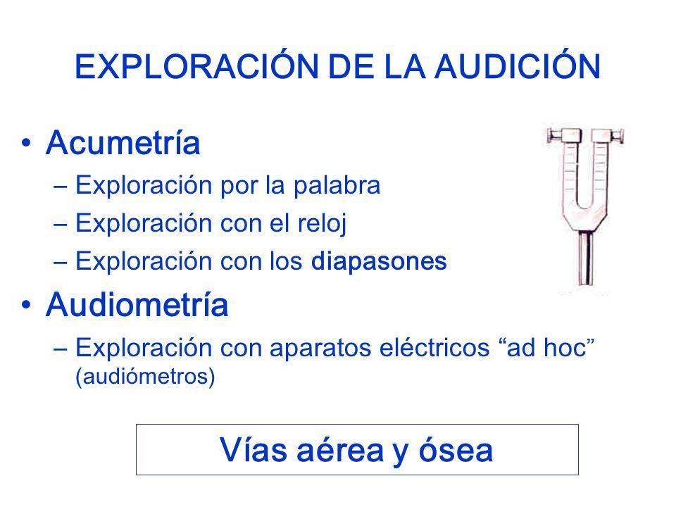 EXPLORACIÓN DE LA AUDICIÓN