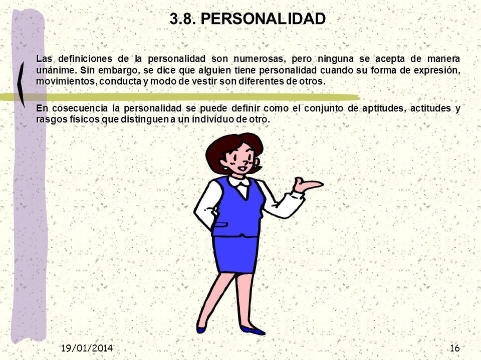 3.8. PERSONALIDAD