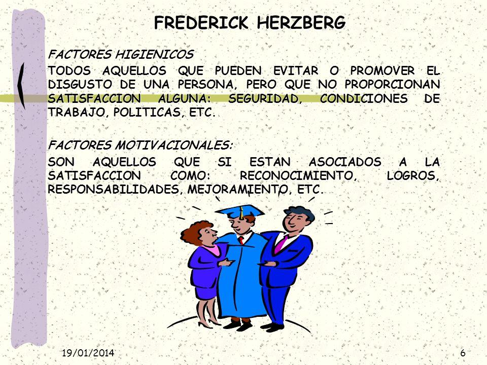 FREDERICK HERZBERG FACTORES HIGIENICOS