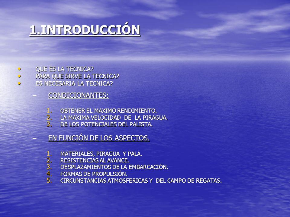 1.INTRODUCCIÓN CONDICIONANTES: EN FUNCIÓN DE LOS ASPECTOS.