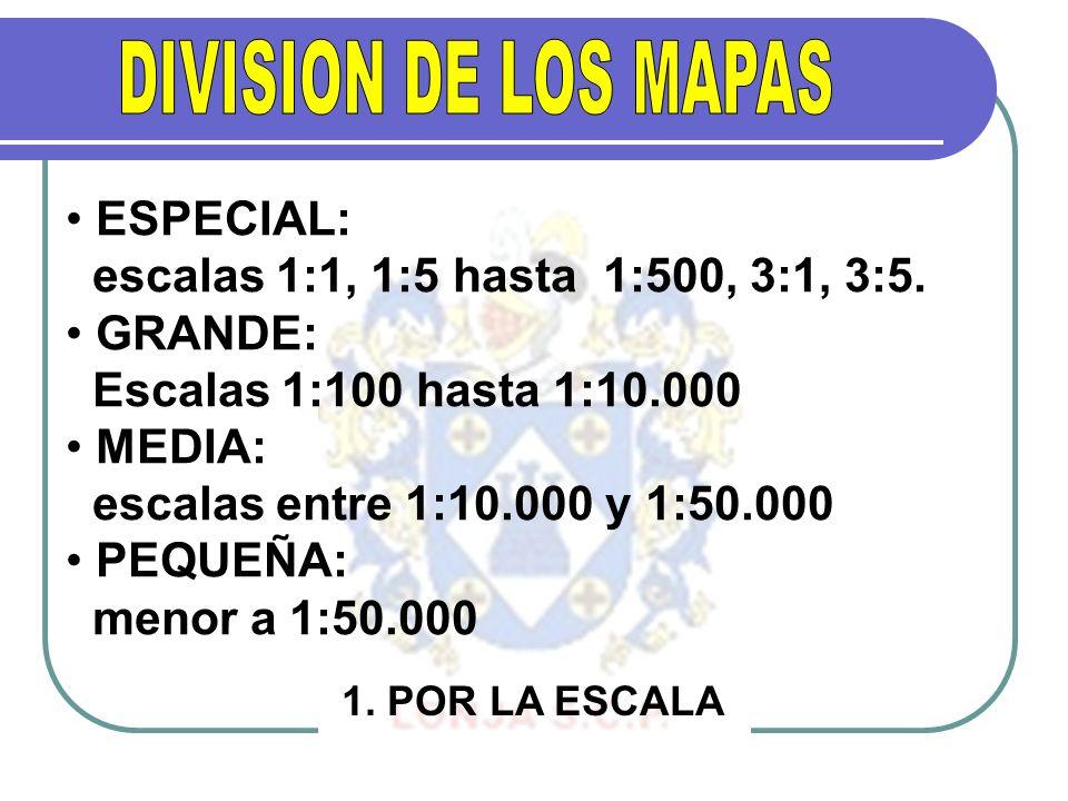 DIVISION DE LOS MAPAS ESPECIAL: