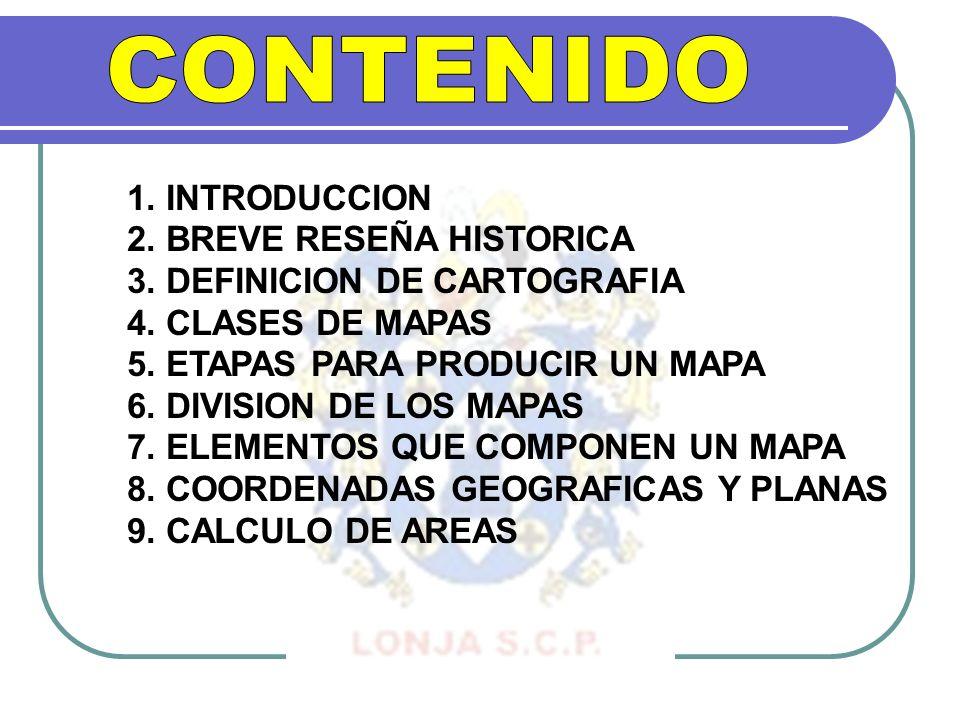 CONTENIDO 1. INTRODUCCION 2. BREVE RESEÑA HISTORICA