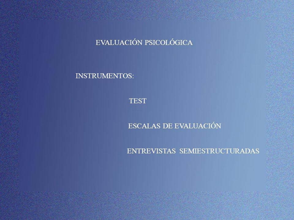 EVALUACIÓN PSICOLÓGICA