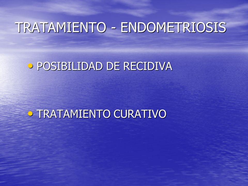 TRATAMIENTO - ENDOMETRIOSIS
