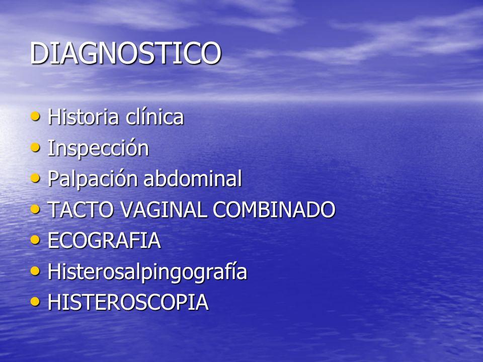 DIAGNOSTICO Historia clínica Inspección Palpación abdominal