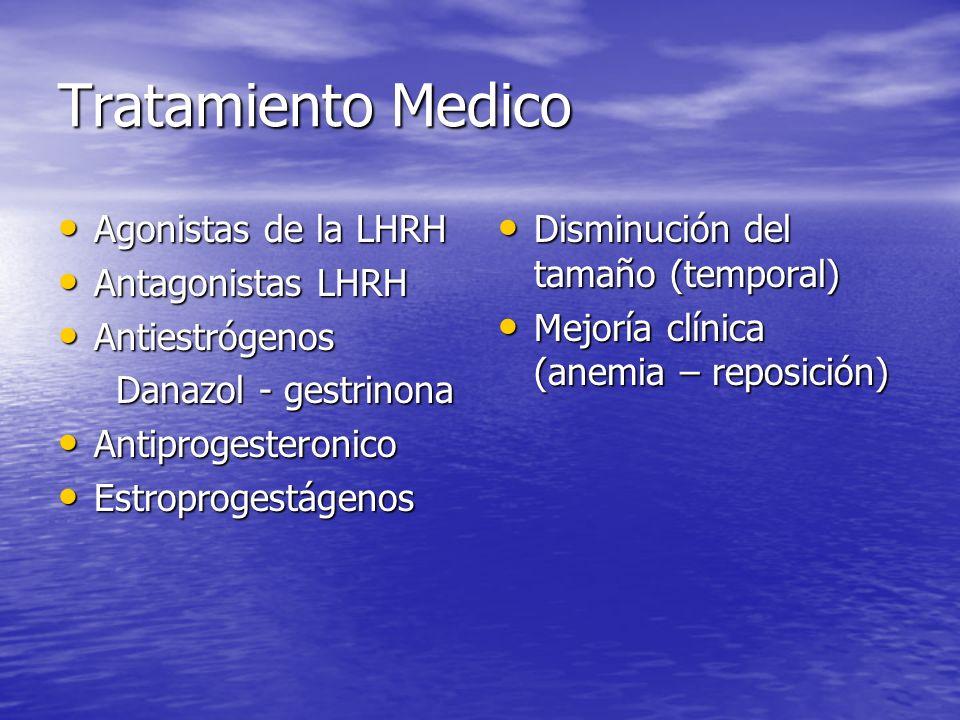 Tratamiento Medico Agonistas de la LHRH Antagonistas LHRH