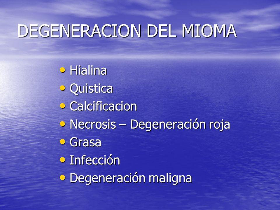 DEGENERACION DEL MIOMA