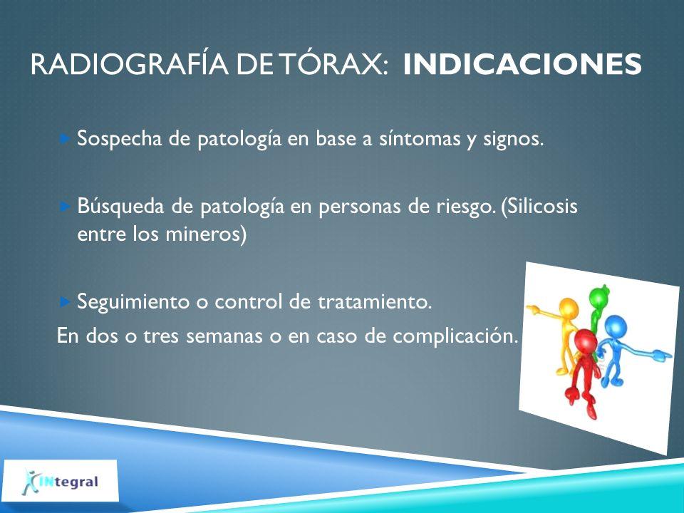 Radiografía de tórax: indicaciones