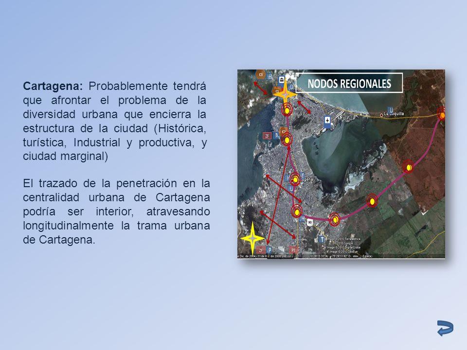 Cartagena: Probablemente tendrá que afrontar el problema de la diversidad urbana que encierra la estructura de la ciudad (Histórica, turística, Industrial y productiva, y ciudad marginal)