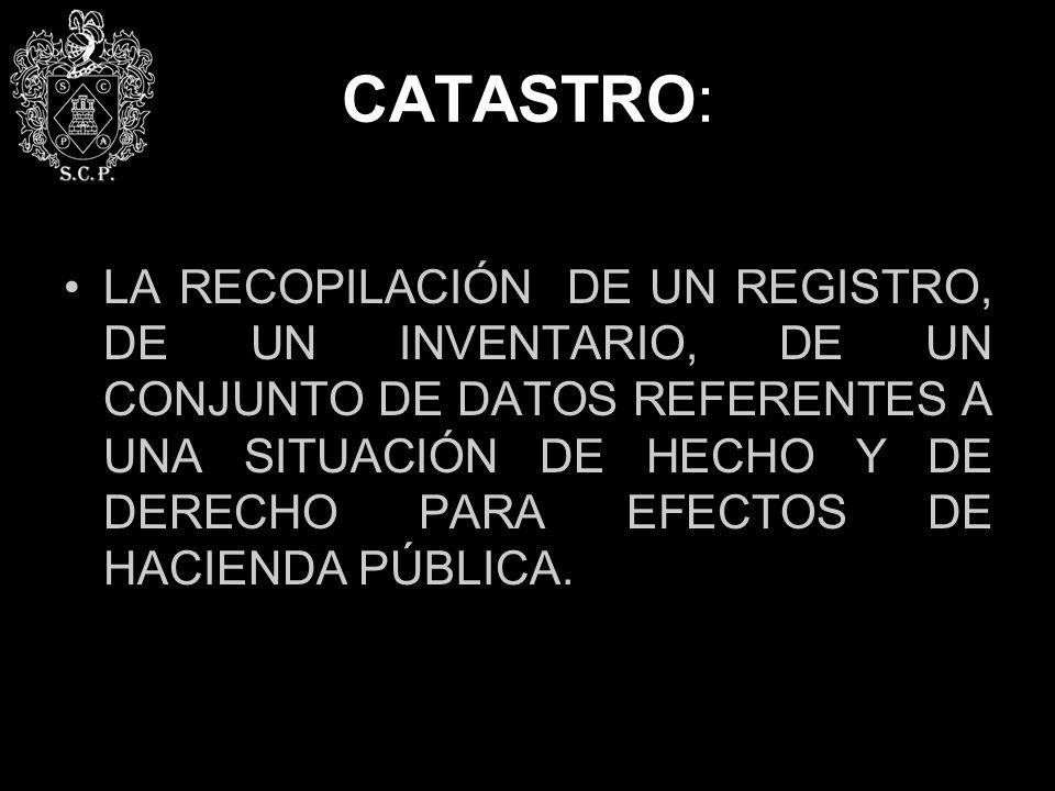 CATASTRO: