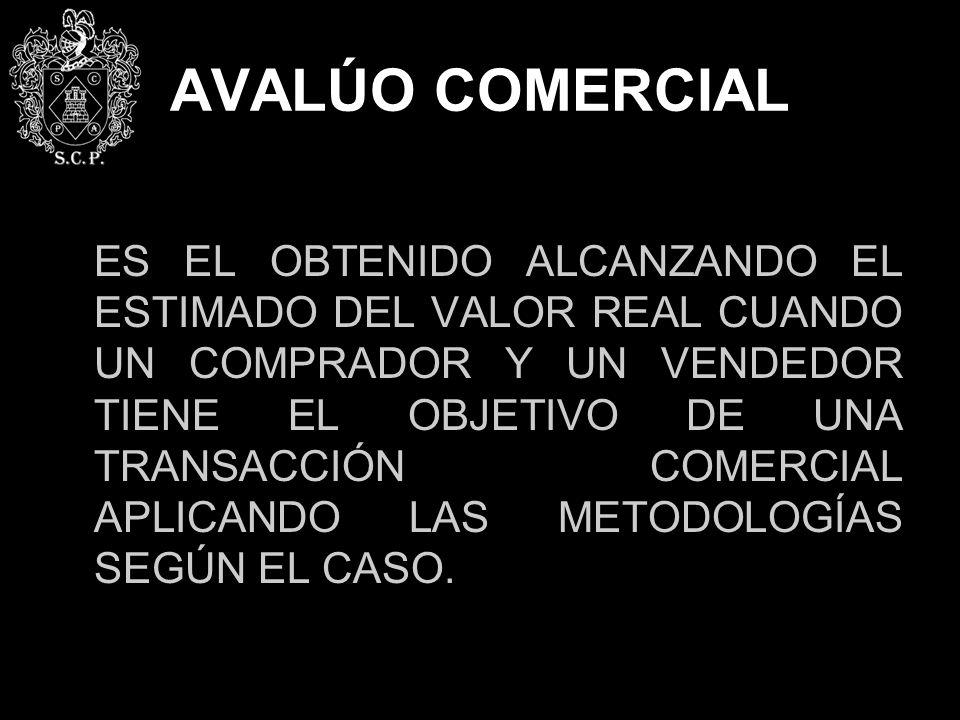 AVALÚO COMERCIAL