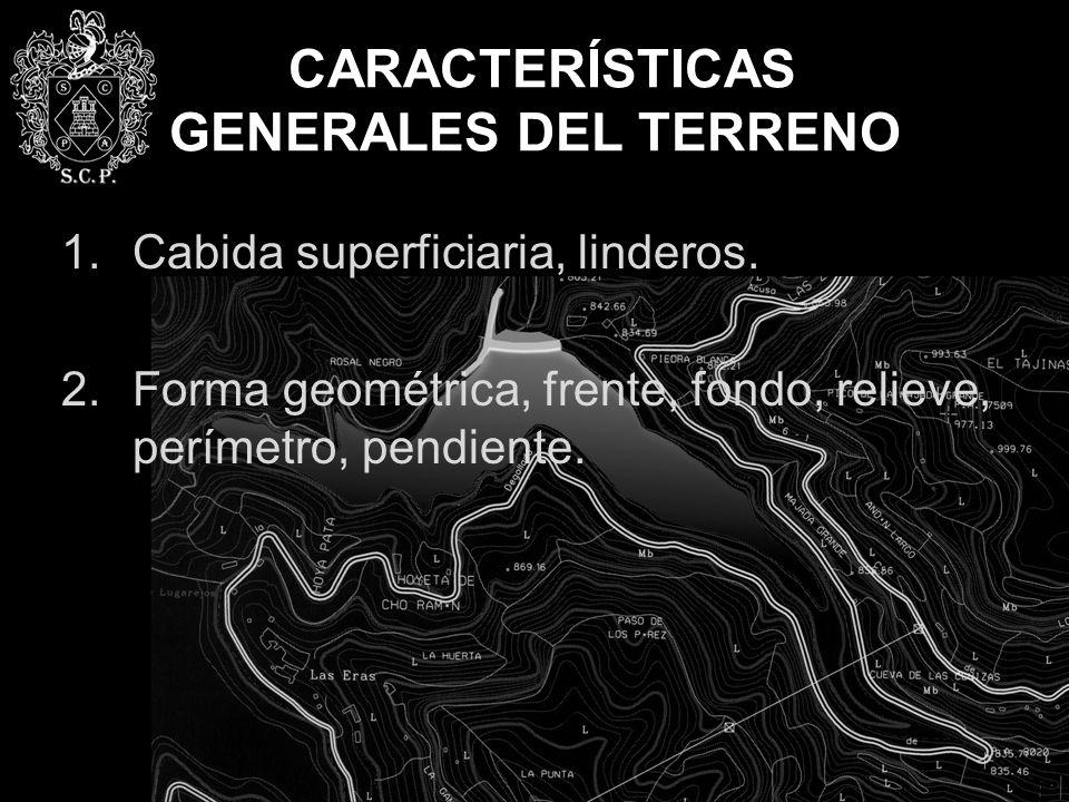 CARACTERÍSTICAS GENERALES DEL TERRENO