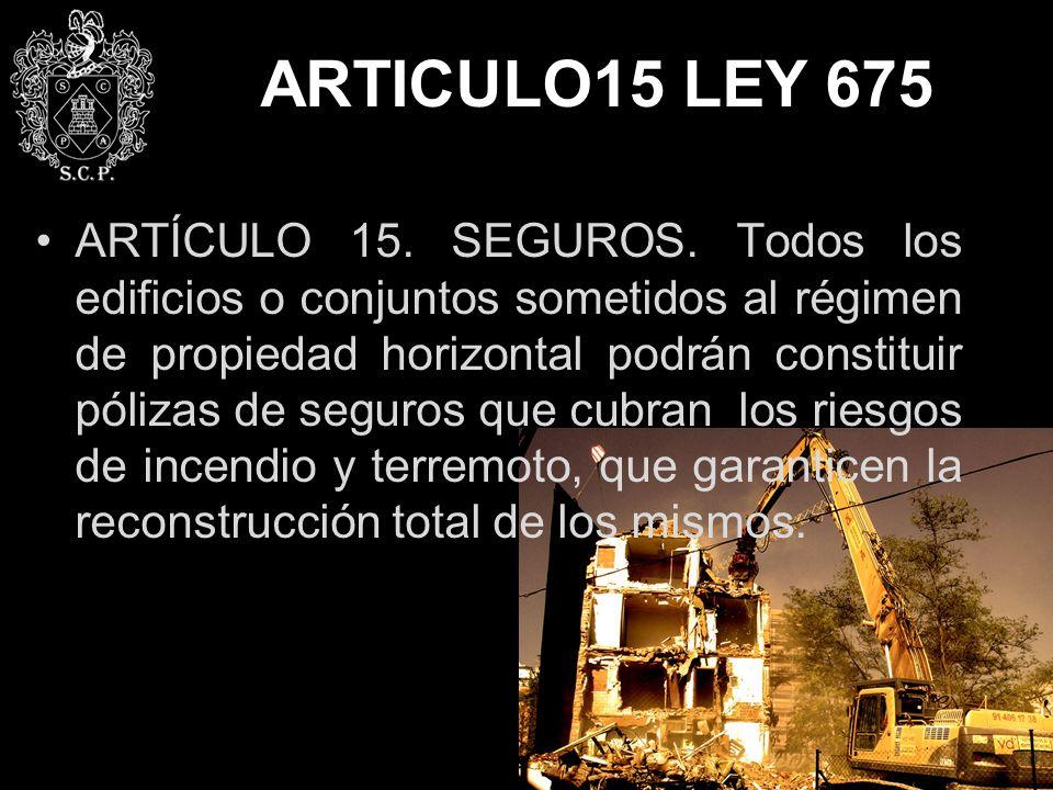 ARTICULO15 LEY 675