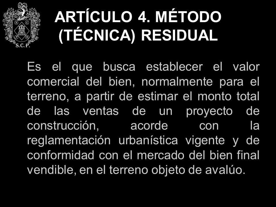 ARTÍCULO 4. MÉTODO (TÉCNICA) RESIDUAL