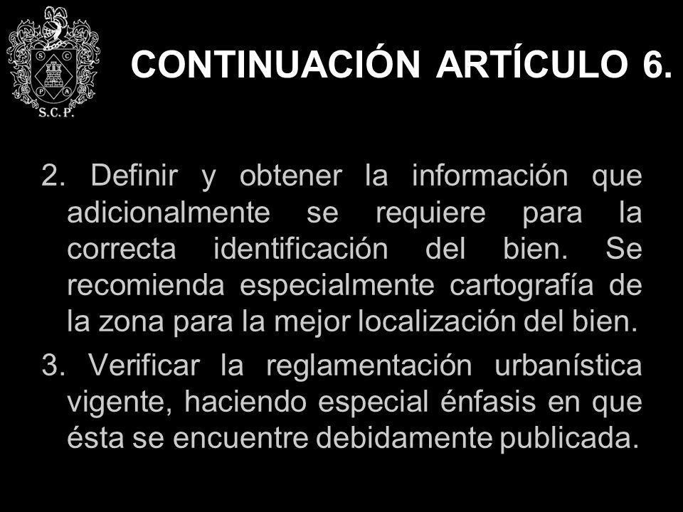 CONTINUACIÓN ARTÍCULO 6.