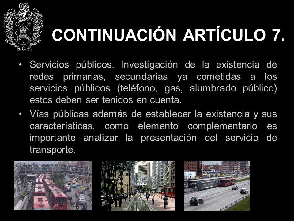CONTINUACIÓN ARTÍCULO 7.