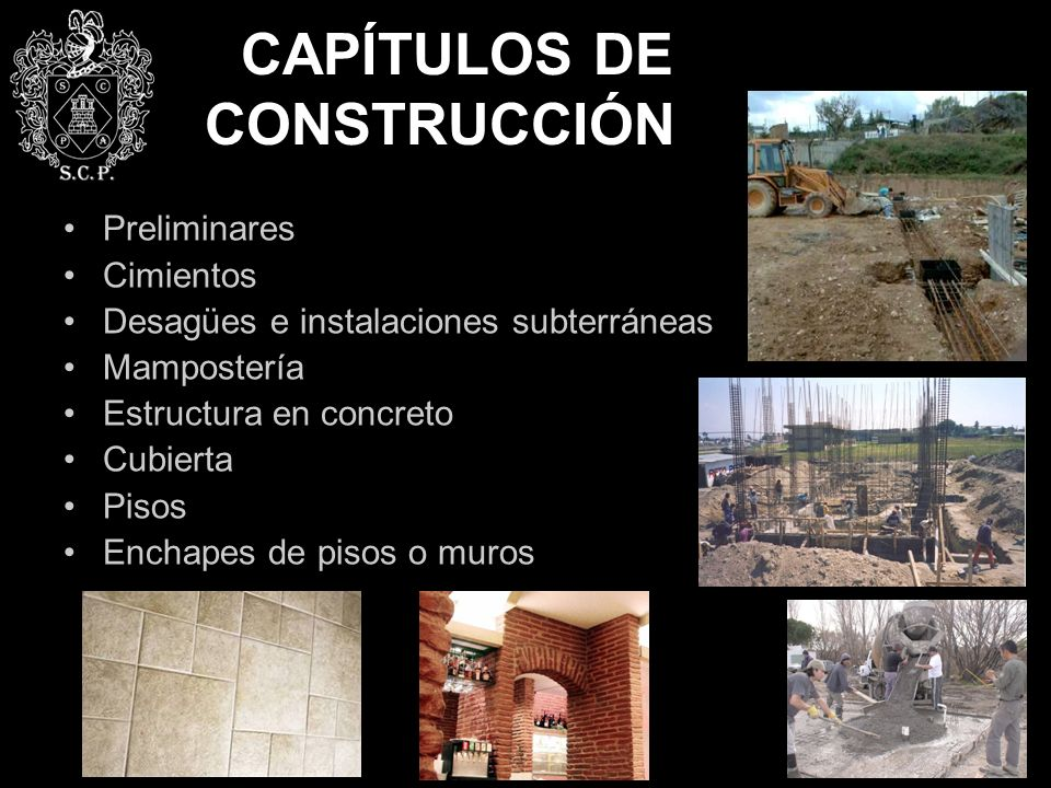 CAPÍTULOS DE CONSTRUCCIÓN