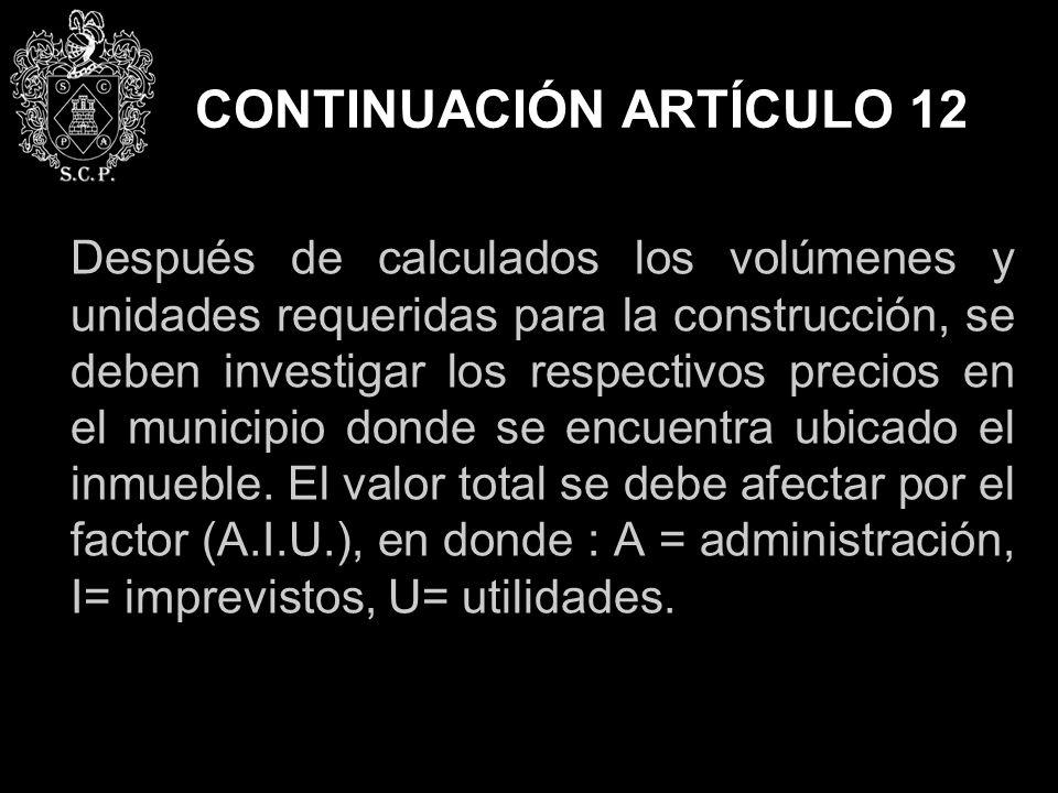 CONTINUACIÓN ARTÍCULO 12