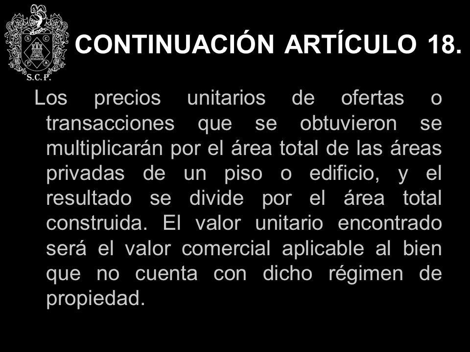 CONTINUACIÓN ARTÍCULO 18.