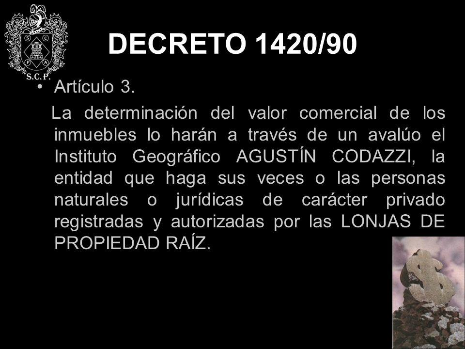 DECRETO 1420/90 Artículo 3.