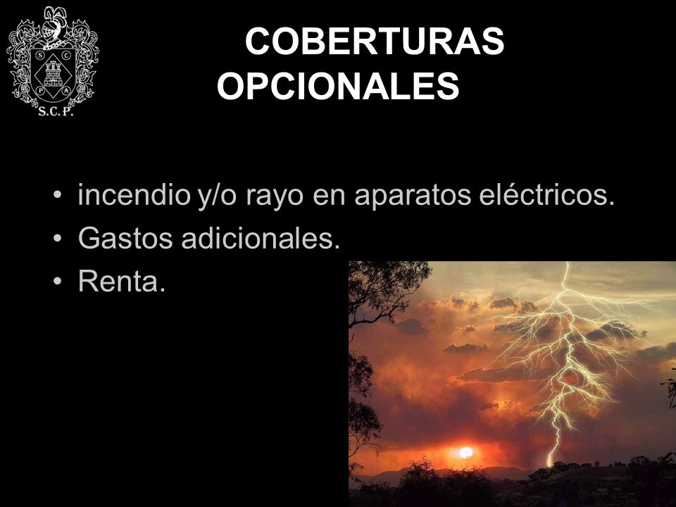 COBERTURAS OPCIONALES