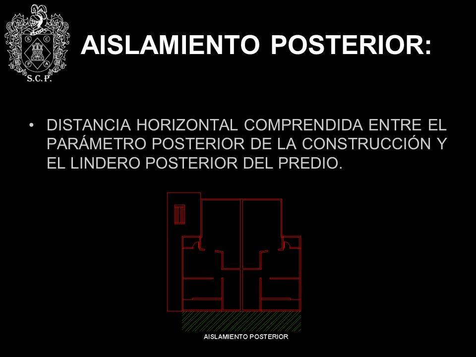 AISLAMIENTO POSTERIOR: