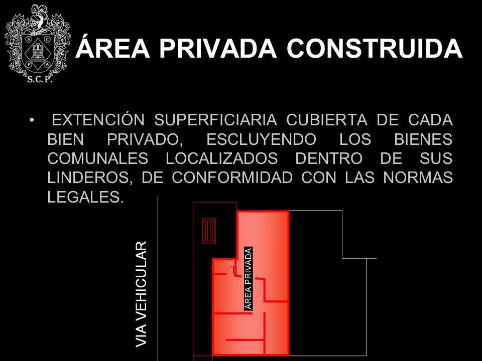ÁREA PRIVADA CONSTRUIDA