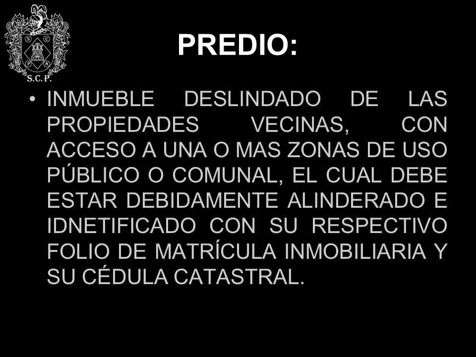PREDIO: