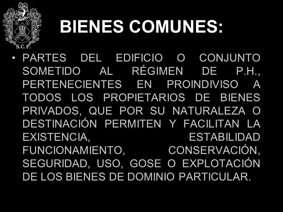 BIENES COMUNES: