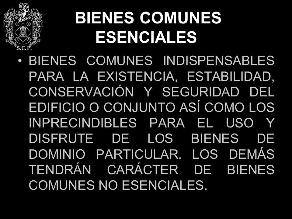 BIENES COMUNES ESENCIALES