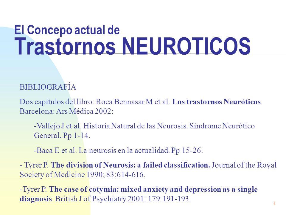 El Concepo actual de Trastornos NEUROTICOS