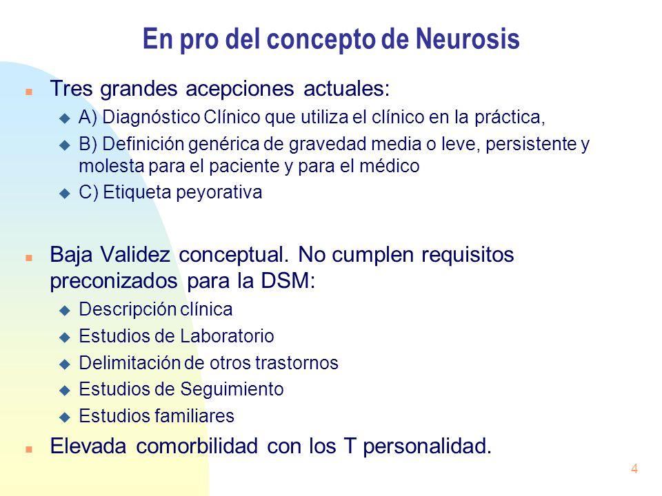 En pro del concepto de Neurosis