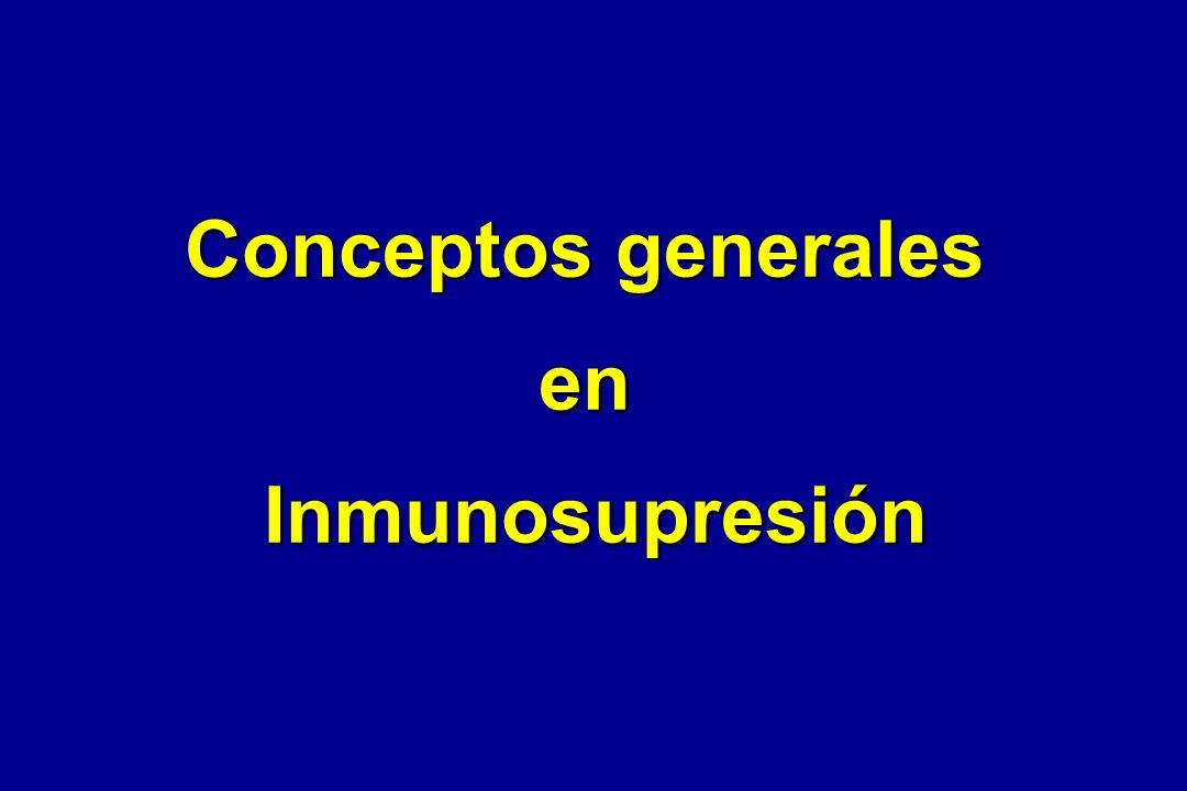 Conceptos generales en Inmunosupresión