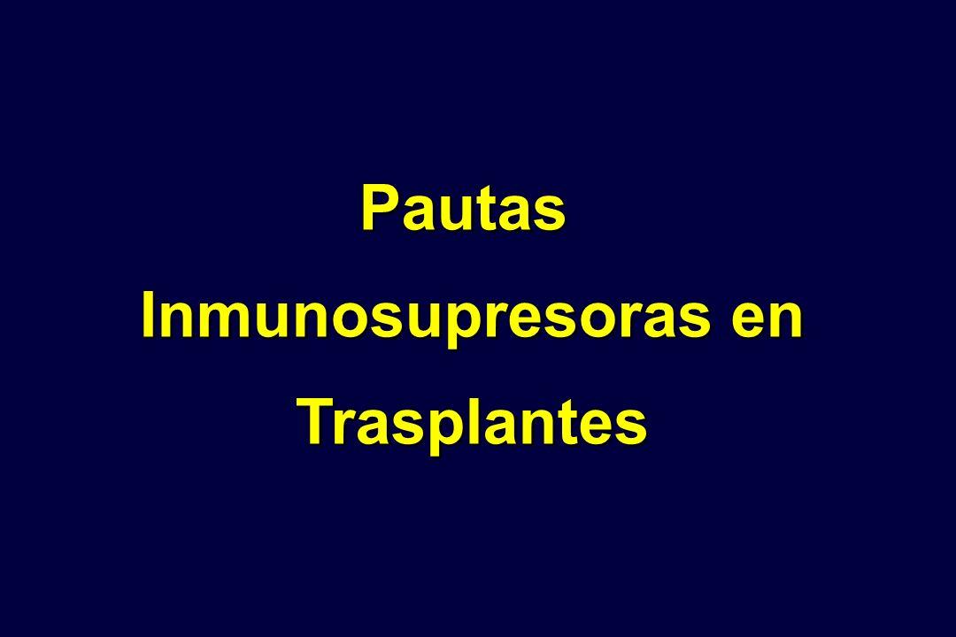 Pautas Inmunosupresoras en Trasplantes