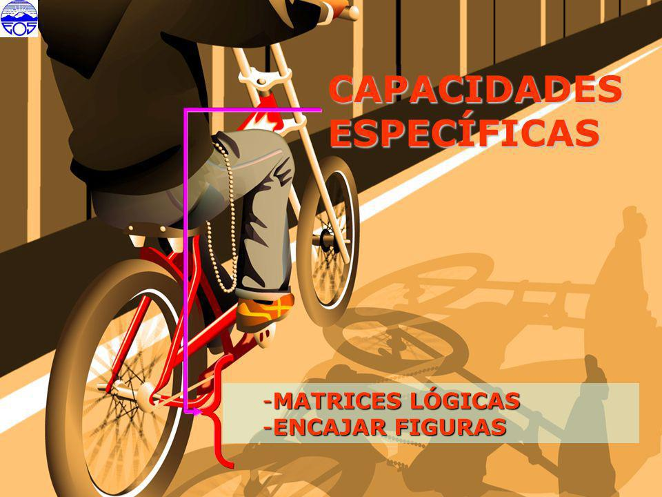 CAPACIDADES ESPECÍFICAS MATRICES LÓGICAS ENCAJAR FIGURAS