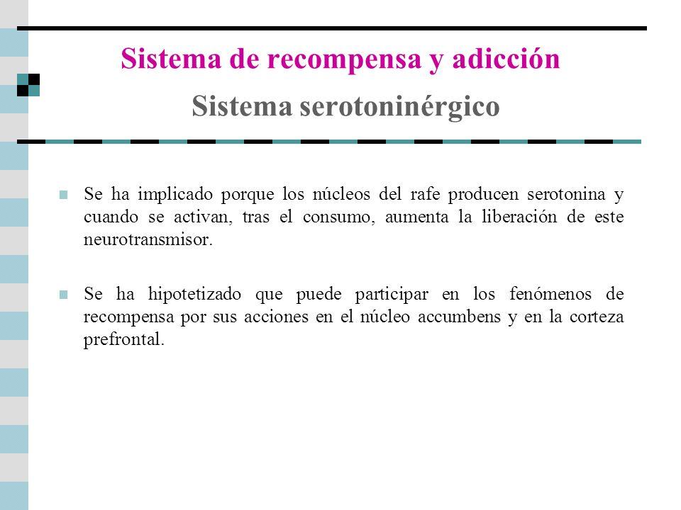 Sistema de recompensa y adicción Sistema serotoninérgico