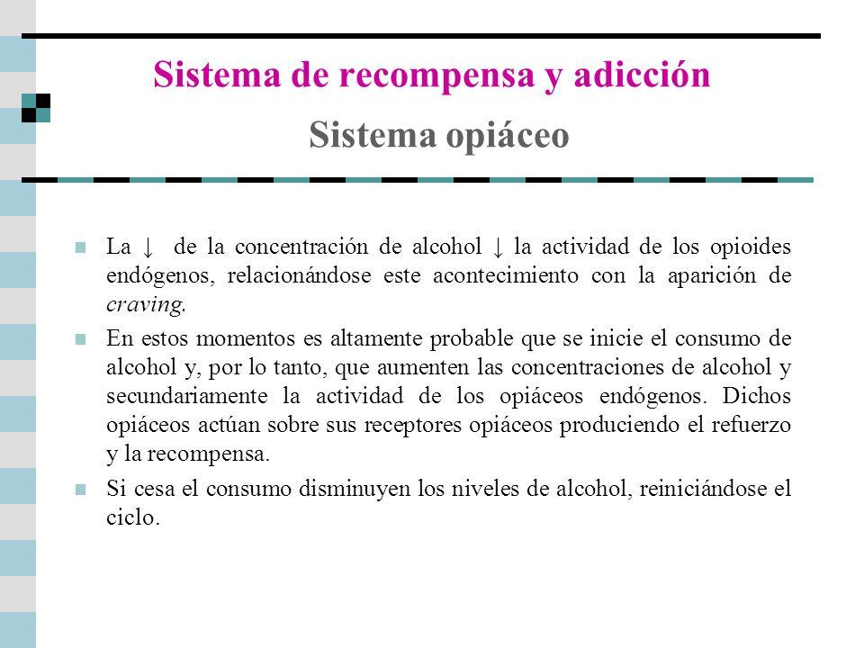 Sistema de recompensa y adicción Sistema opiáceo