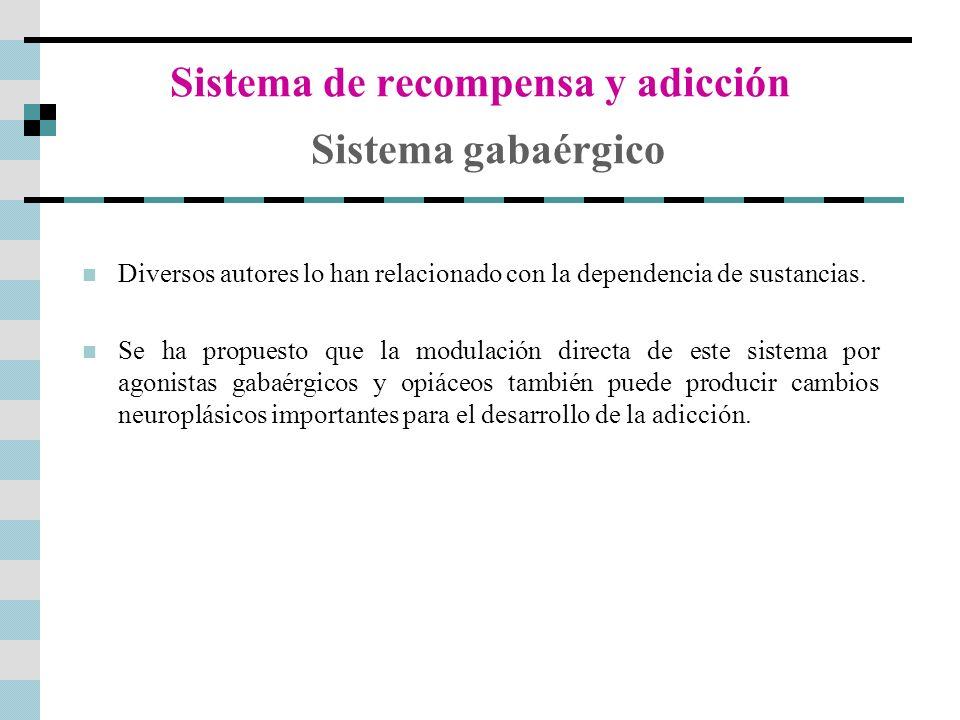 Sistema de recompensa y adicción Sistema gabaérgico