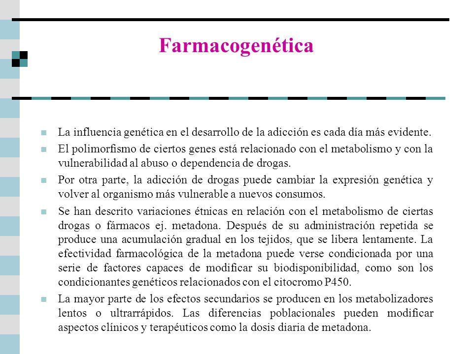 Farmacogenética La influencia genética en el desarrollo de la adicción es cada día más evidente.
