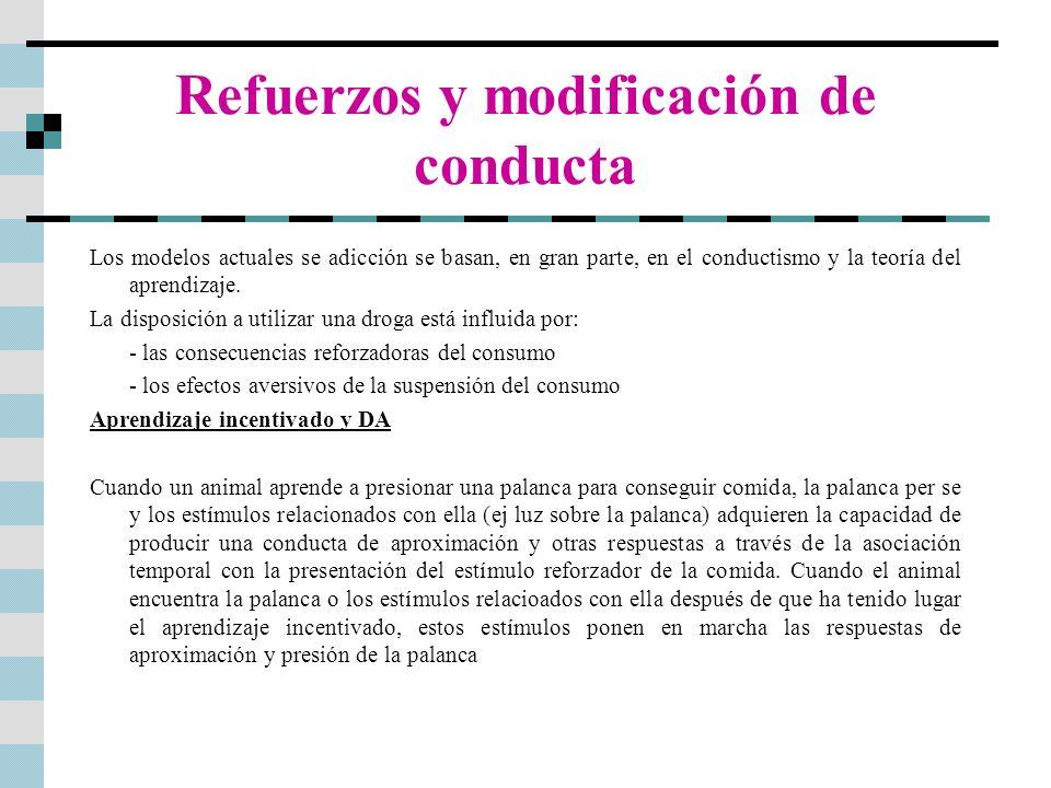 Refuerzos y modificación de conducta