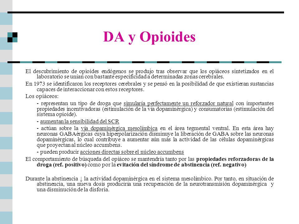 DA y Opioides